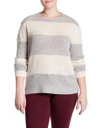 NAKEDCASHMERE - Titia Stripe Cashmere Sweater (plus Size) - Lyst