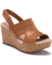 Clarks - Annadel Ivory Wedge Sandals - Lyst