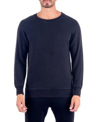 Unsimply Stitched | Stone Washed French Terry Relaxed Neck Crew Sweater | Lyst