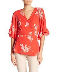 Pleione - Ruffled Floral Kimono - Lyst
