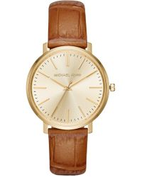 MICHAEL Michael Kors - Women's Jaryn Croc Embossed Leather Watch - Lyst