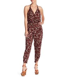 Green Dragon - Print Halter Jumpsuit - Lyst