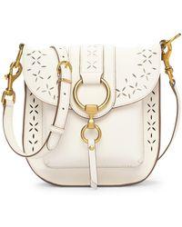 Frye - Ilana Perforated Leather Saddle Bag - Lyst