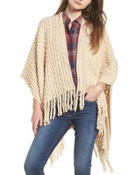 Sole Society - Knit Cape - Lyst