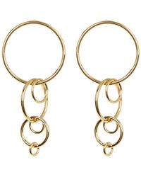 Trina Turk - Round Linear Link Dangle Earrings - Lyst