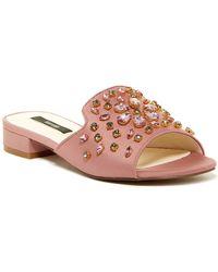 Kensie - Kassie Embellished Slide Sandal - Lyst