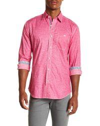 Bugatchi - Solid Long Sleeve Slim Fit Shirt - Lyst