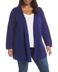 Sejour - Wool & Cashmere Open Front Cardigan (plus Size) - Lyst