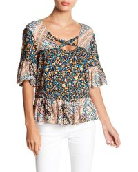 BCBGeneration - Crisscross Neck Blouse - Lyst