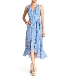 Soprano - Gingham Print Wrap Dress - Lyst