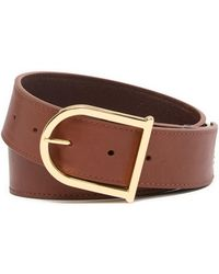 Vince Camuto - Smooth Leather Signature Belt - Lyst