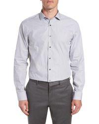 Calibrate - Trim Fit Stripe Dress Shirt - Lyst