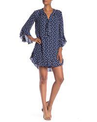 Max Studio - Flounce Hem Print Dress - Lyst