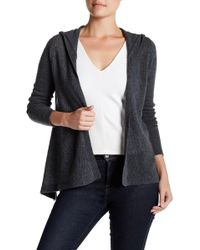 Spun By Subtle Luxury - Cashmere Beachy Hooded Cardigan - Lyst
