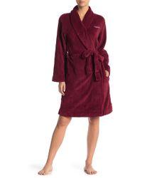 Calvin Klein - Plush Shawl Collar Robe - Lyst
