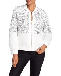 BCBGMAXAZRIA - Embroidered Floral Bomber Jacket - Lyst