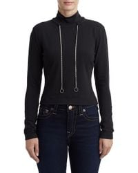 True Religion - Curb Chain Turtleneck Sweater - Lyst