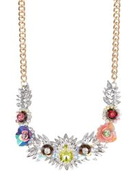 Cara - Crystal Sequin Flower Necklace - Lyst