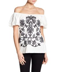 Democracy - Layered Bell Sleeve Off-the-shoulder Top - Lyst