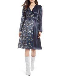 Halogen - (r) Print Satin Dress (regular & Petite) - Lyst