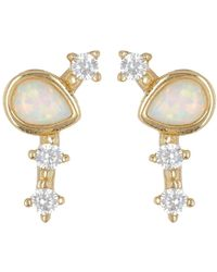 674edc7ea730a Genevive Jewelry Rose Gold Plated Sterling Silver Round Halo Cz Stud ...
