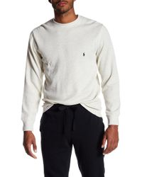 Polo Ralph Lauren - Heathered Waffle Knit Long Sleeve Tee - Lyst