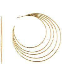 Gorjana - Casey Profile 67mm Hoop Earrings - Lyst