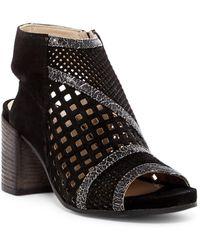 Khrio - Perforated Block Heel Bootie - Lyst