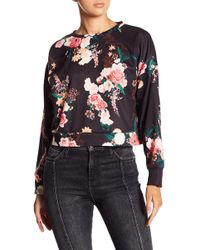 Love, Fire - Floral Cropped Crew Sweatshirt - Lyst