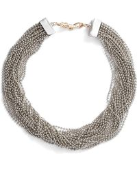 Steve Madden - Beaded Interlock Necklace - Lyst