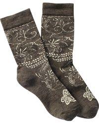 Smartwool - Floral Scroll Wool Blend Crew Socks - Lyst