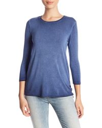 Cable & Gauge - 3/4 Sleeve Knit Top (petite) - Lyst