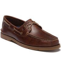 Sperry Top-Sider - Leeward Cross Lace Leather Loafer - Lyst