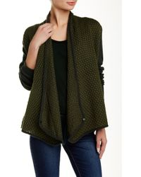 Catherine Malandrino Indigo - Solid Sleeve Knit Cardigan - Lyst