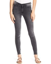 Black Orchid - Black Jewel High Waisted Skinny Jeans - Lyst
