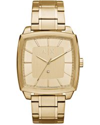 Armani Exchange - Men's Nico Square Bracelet Watch - Lyst