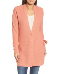 Halogen - (r) Side Tie Cardigan (regular & Petite) - Lyst