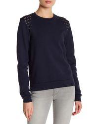 Black Orchid - Embellished Sweatshirt - Lyst