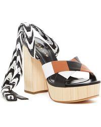 Derek Lam - Frida Nappa Leather Crossover Platform Sandal - Lyst