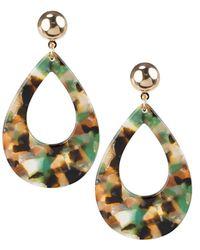Jardin - Open Teardrop Earrings - Lyst