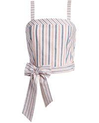 Storee - Tie Front Crop Top - Lyst