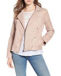 Hinge - Feminine Leather Moto Jacket - Lyst