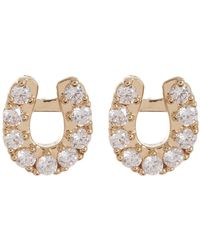 Nadri - Reminisce Pave Cz Horseshoe Stud Earrings - Lyst