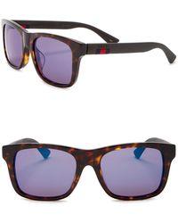 b4da84fb0b5 Lyst - Gucci 56mm Wayfarer Sunglasses in Brown for Men