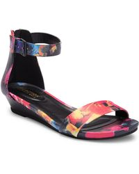 Kenneth Cole Reaction - Great Viber Floral Wedge Sandal - Lyst