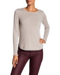 In Cashmere | Frayed Edge Cashmere Sweater | Lyst