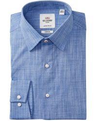 Ben Sherman - Stretch Slub Florentine Tailored Slim Fit Dress Shirt - Lyst