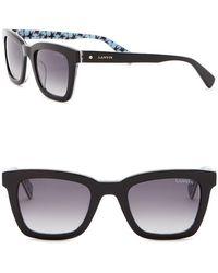 Lanvin - 49mm Acetate Square Sunglasses - Lyst