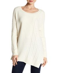 Two By Vince Camuto - Mixed Knit Jumper - Lyst