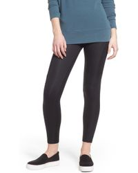 Yummie By Heather Thomson - Coated Side Panel Ankle Leggings - Lyst
